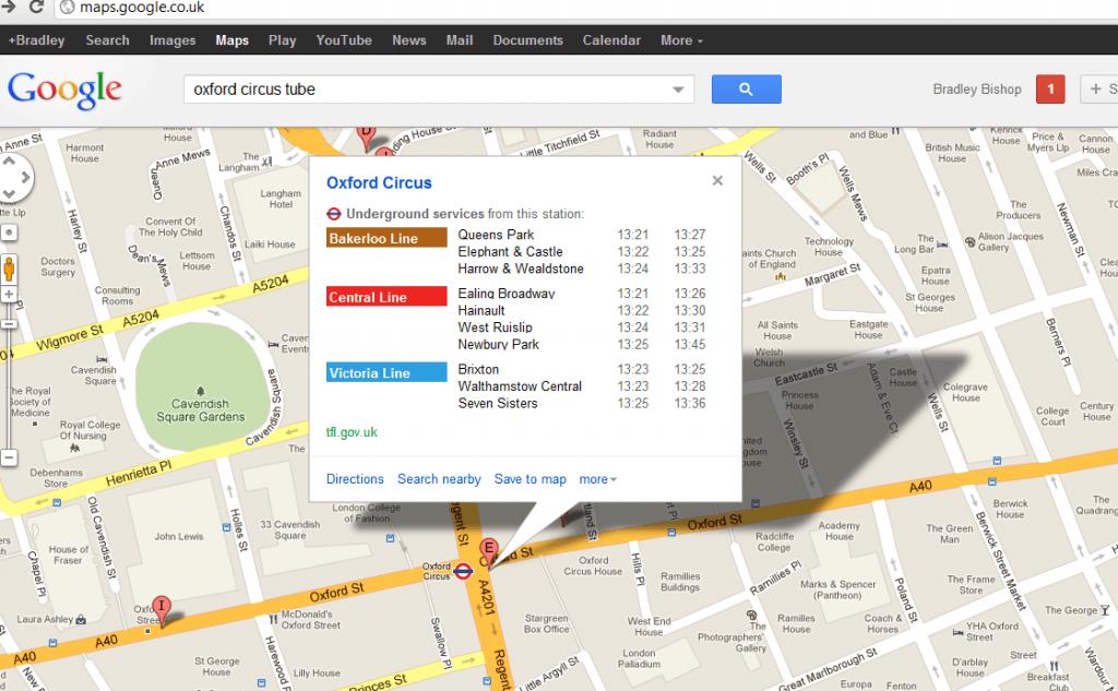 google maps tube image