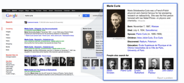 Knowledge Graph Launches