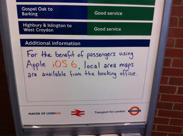 Apple Maps Fail - Hackney Wick Station