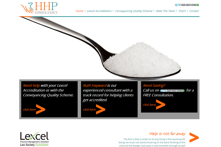 HHP Consultancy Website Design Homepage