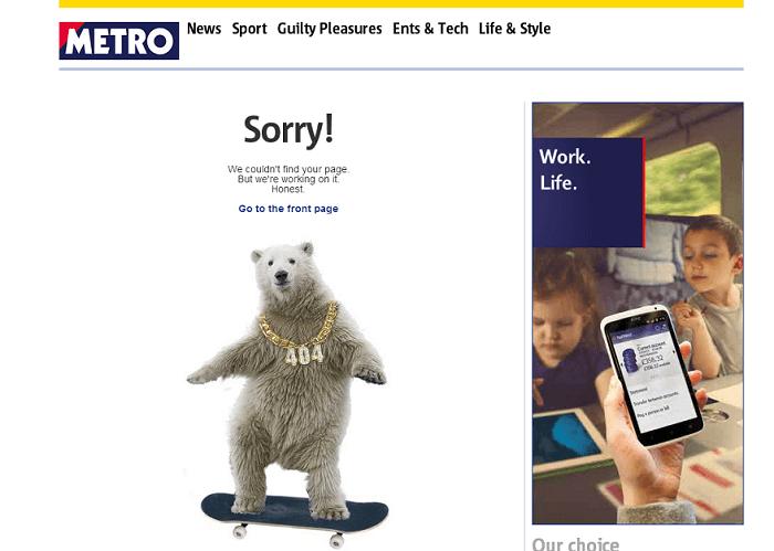 metro 404 error page