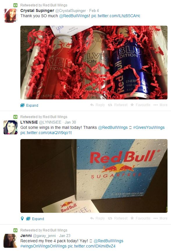 redbull social shares