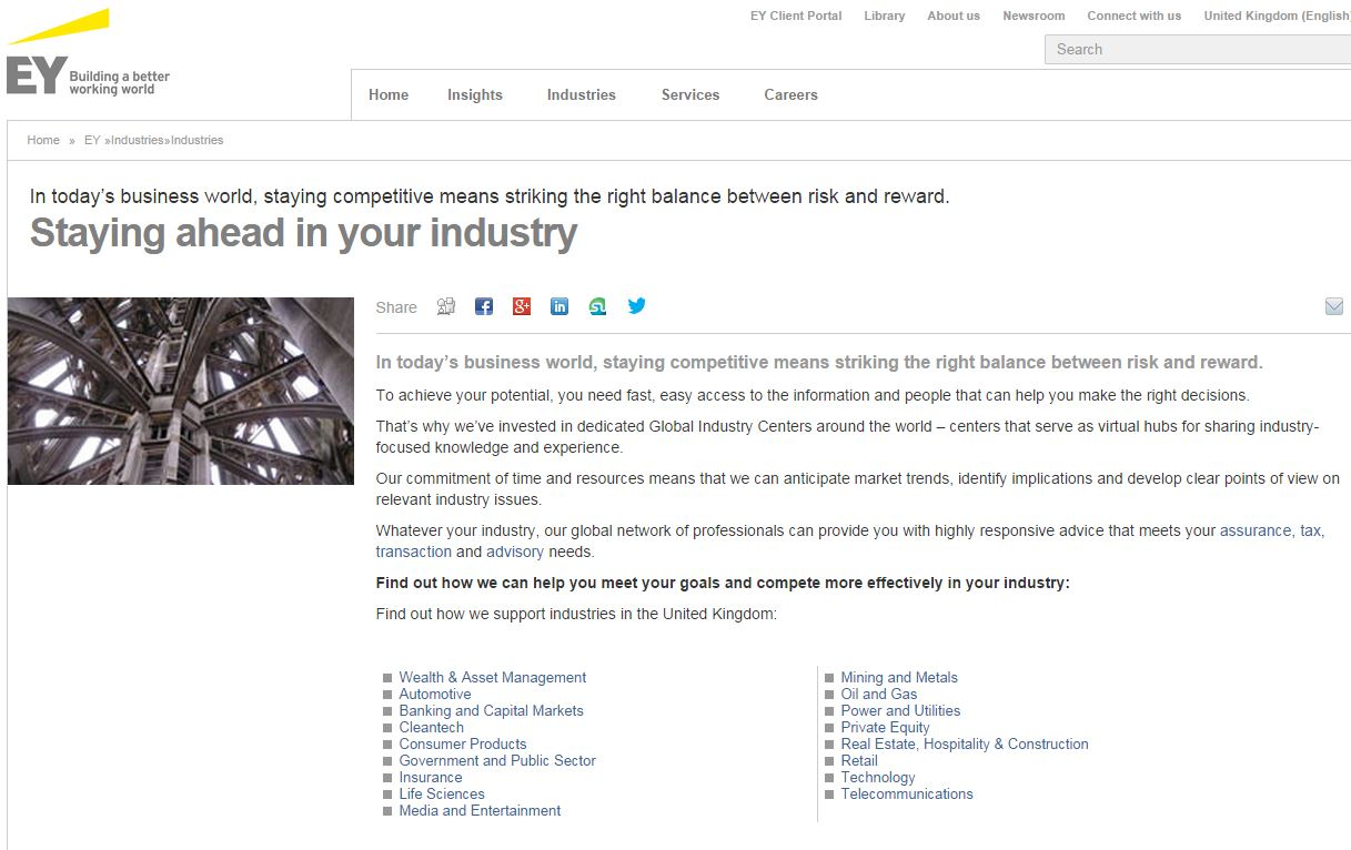 ernst and young copy website