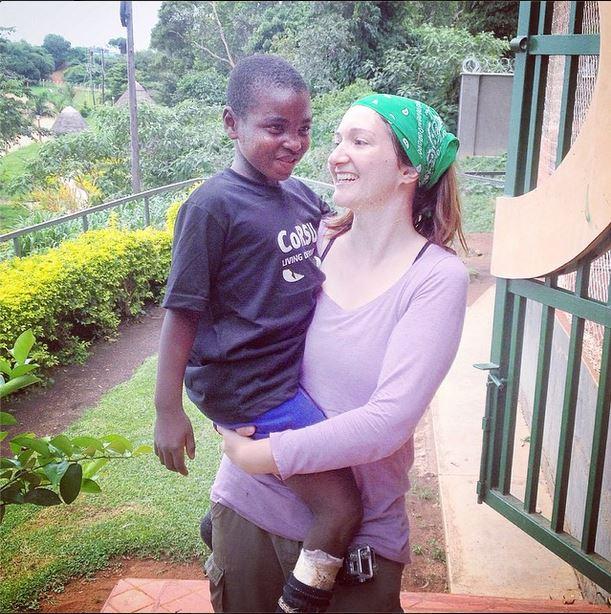 Melissa with a CoRSU Kid