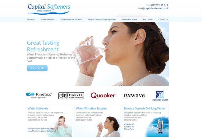 capital softeners business website design