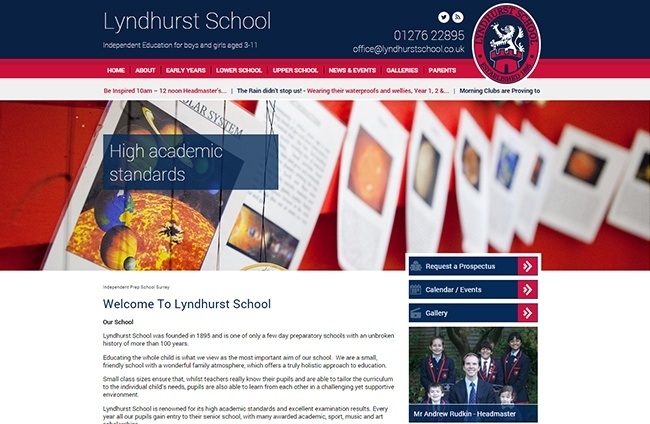lyndhurst-independent-school-web-design