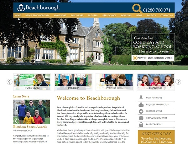 beachborough-independent-school-website-design
