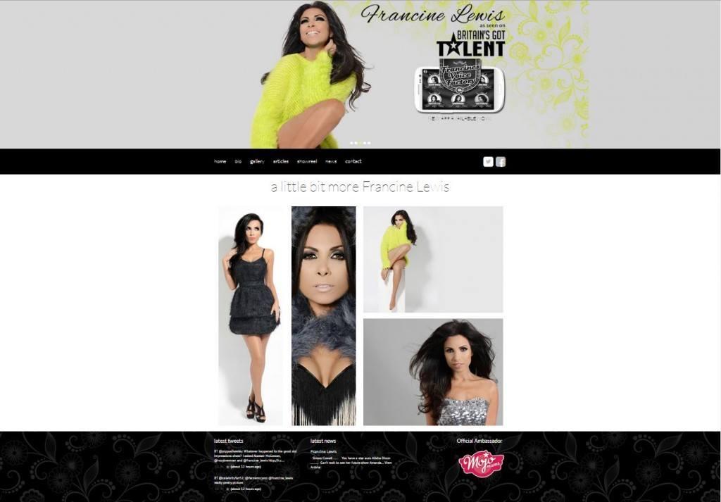 celebrity website design