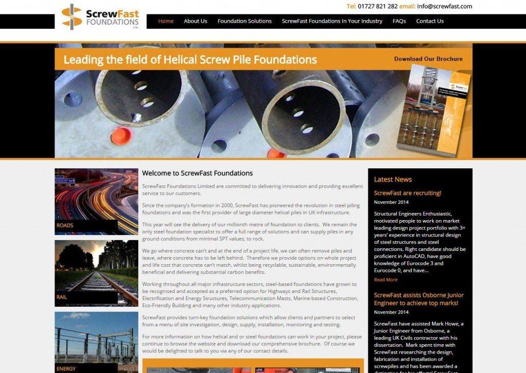 construction industry website design