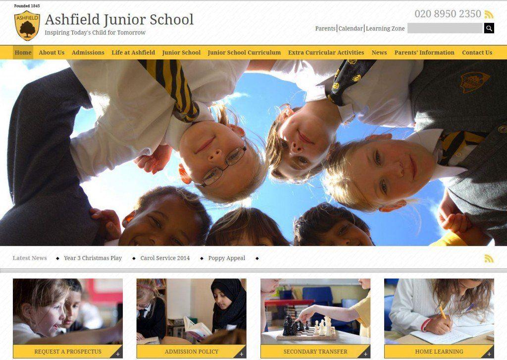 junior school website design