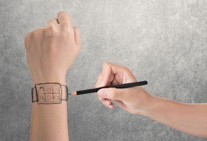 drawing of digital wearable technology