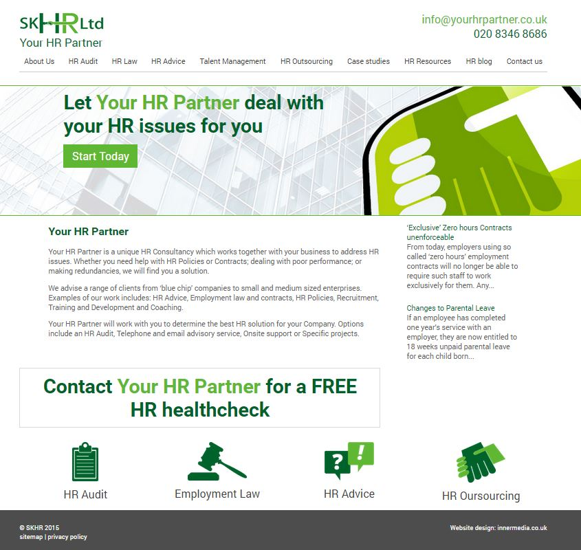 hr company website design