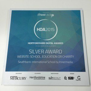 Hertfordshire Digital Awards 2015, Innermedia's Silver Award for Best Website in School, Education and Charity.